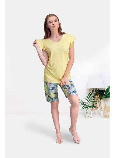 Pierre Cardin Pierre Cardin Sarı Kadın Bermuda Takım Sarı